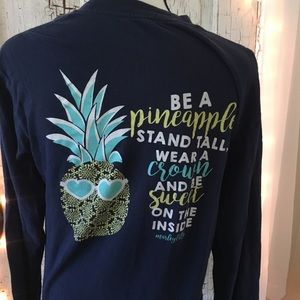 Tops - Marley Lily Be a Pineapple Long Sleeve T-Shirt